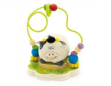 Деревянная игрушка  Лабиринт Буренка Мир деревянных игрушек