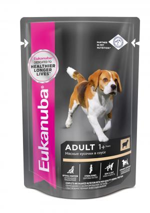 Влажный корм  для взрослых собак, ягненок, 100г Eukanuba
