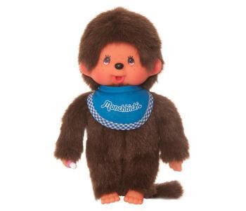 Мягкая игрушка  Мальчик в слюнявчике 20 см Monchhichi