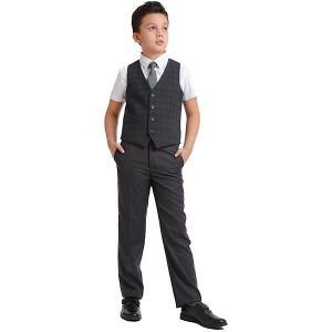 Комплект Scool: жилет и брюки S'cool. Цвет: серый