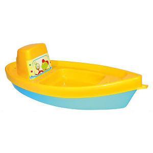 Игрушечная лодка  Баркас Zebratoys. Цвет: желтый