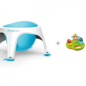 Сиденье для купания Bath ring и игрушка Chicco Остров пузырьков Angelcare