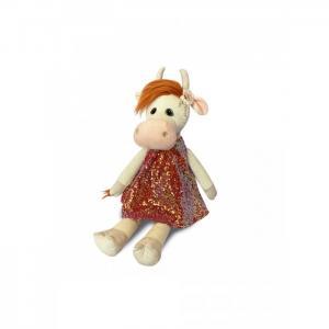 Мягкая игрушка  Коровка Глаша в коралловом платье 23 см Maxitoys
