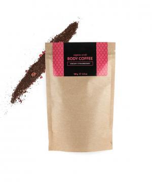 Аргановый кофейный скраб Клубника со сливками, 150 г Huilargan
