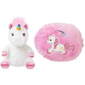 Мягкая игрушка Aurora Единорог-подушка, 40 см. Цвет: разноцветный