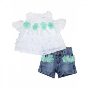 Комплект для девочки туника, шорты 3388 Baby Rose