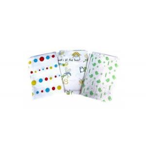 Клеенка  с мишкой, 1 шт, цвет: белый/зеленый Бусинка