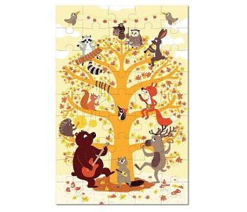 Игрушки из картона: пазл Лесные животные Krooom
