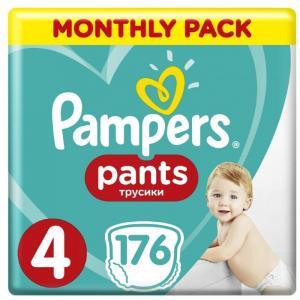 Подгузники-трусики Pants р.4 (9-15 кг) 176 шт. Pampers
