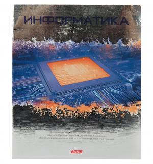 Тетрадь предметная А5 46л клетка  Metallic Информатика Hatber