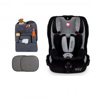 Автокресло  Levi plus + подарок шторки и органайзер, цвет: grey Lionelo