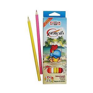 Набор цветных карандашей  Птицы, 18 цветов KOH-I-NOOR. Цвет: голубой/зеленый