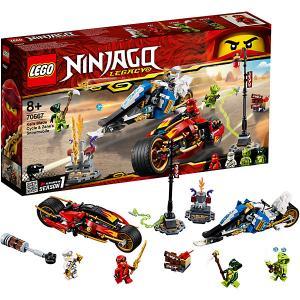 Конструктор  Ninjago 70667: Мотоцикл-клинок Кая и снегоход Зейна LEGO
