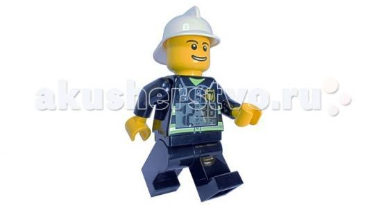 Часы  Будильник Lego City минифигура Fireman Clic Time