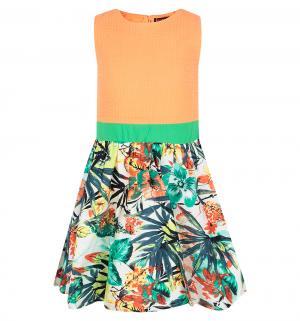 Сарафан  Тропические цветы, цвет: оранжевый I Love To Dream