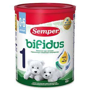 Молочная смесь  bifidus 1, с 0 мес, 400 г Semper