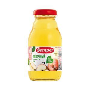 Сок  яблочный с 4 мес, 12 шт х 200 мл Semper