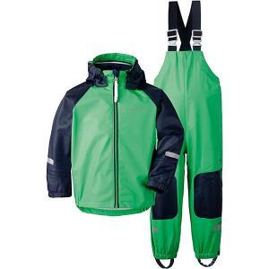 Комплект Didriksons Stormman: куртка и полукомбинезон. Цвет: светло-зеленый