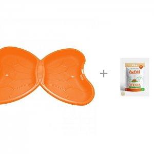 Песочница- бассейн Крыло бабочки (1 крыло) и Песок для песочниц Mixplant Емеля 14 кг R-Toys