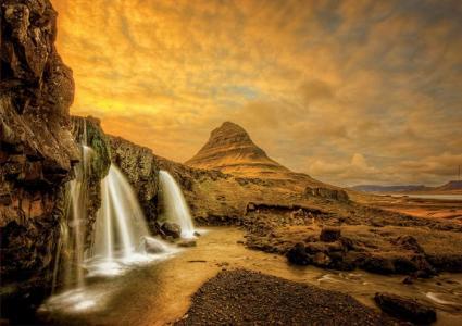 Пазл Водопад Киркьюфетльсфос, Исландия 1000 деталей Educa