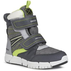 Утеплённые ботинки Geox. Цвет: серый