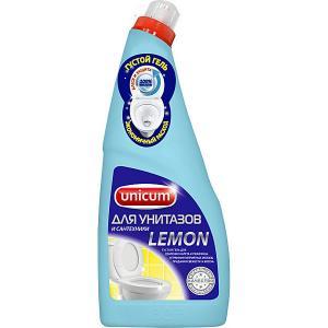 Гель для чистки унитазов  лимон, 750 мл Unicum