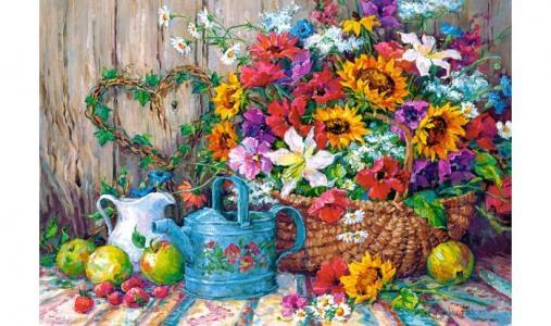 Пазлы Садовые цветы (1500 деталей) Castorland