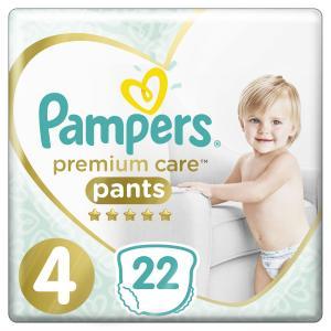 Трусики  Premium Care Pants 4 размер (9-15 кг) 22 шт. Pampers
