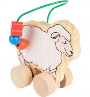 Каталка-лабиринт  Овца, 21 см Мир Деревянных Игрушек