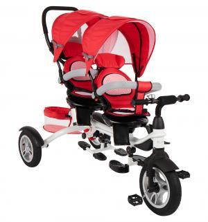 Трехколесный велосипед  Twin Trike 360, цвет: красный Capella