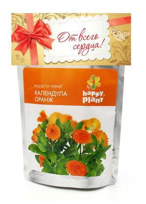 Набор для выращивания Календула оранжевая Happy Plant