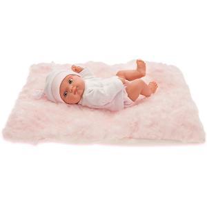 Кукла-пупс  Пепита на розовом одеялке, 21 см Munecas Antonio Juan. Цвет: розовый