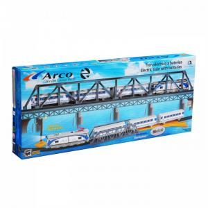 Железная дорога 1 локомотив 3 вагона светофор мост стрелка перевода 4,4м эллипс 525 Pequetren