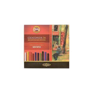 Набор твердой художественной пастели KOH-I-NOOR Gioconda, 24 цвета. Цвет: красный