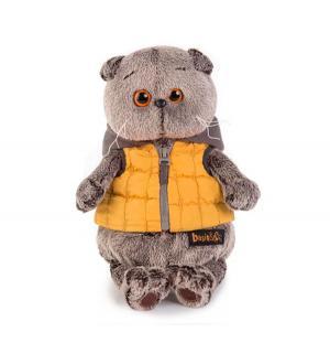 Мягкая игрушка  Басик в желтой жилетке с серым капюшоном 25 см Basik&Ko