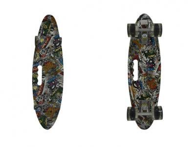 Скейтборд пластиковый со светом Navigator