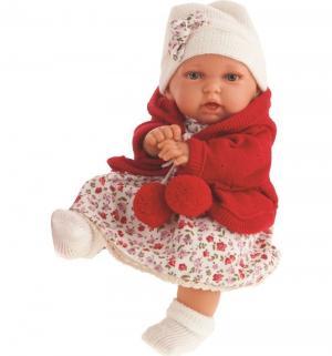 Кукла  Азалия в красном наряде 27 см Juan Antonio