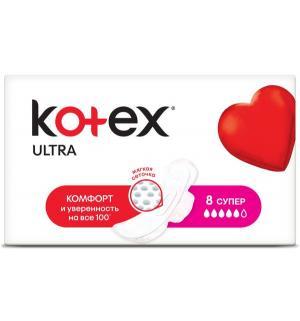 Прокладки  Ultra Dry&Soft Super, 8 шт Kotex