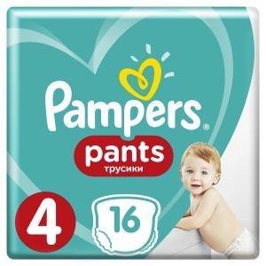 Трусики  Pants 4 размер (9-15 кг) 16 шт. Pampers