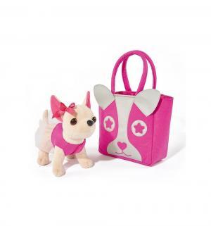 Мягкая игрушка  Собачка с розовой сумкой 20 см Chi Love