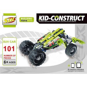 3D-Конструктор  Kid-Construct Кроссовер зелёный, 101 деталь SDL