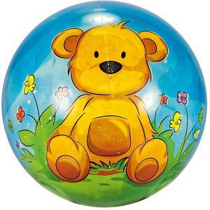 Мяч  Мишка, 23 см Dema-Stil. Цвет: коричнево-синий
