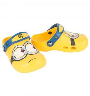 Сабо  FunLab Minions Clog Yel, цвет: желтый Crocs