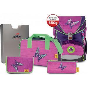 Ранец с наполнением  Ergoflex Superlight Розовая бабочка DerDieDas. Цвет: разноцветный