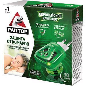 Комплект  прибор + жидкость от комаров, 30 ночей Раптор