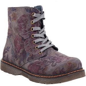 Утепленные ботинки Котофей. Цвет: серый
