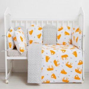 Бортик в кроватку  Тигры подушечки 10 шт. Крошка Я