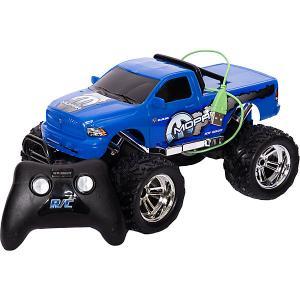 Машинка на радиоуправлении  Chargers Truck 1:18 синяя New Bright. Цвет: синий