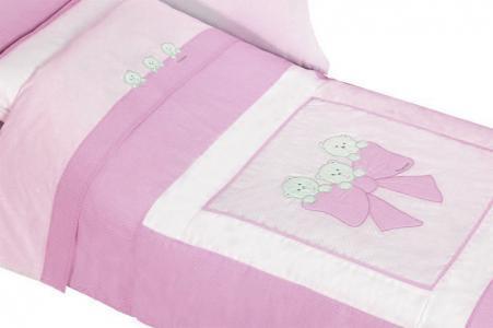 Комплект в кроватку  Бантик короткий борт (7 предметов) Andy & Helen