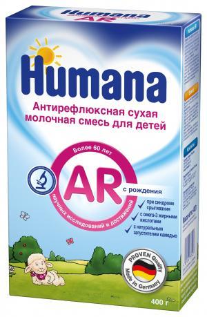 Молочная смесь  AR Антирефлюкс с рождения, 400 г Humana